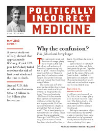 Politically Incorrect Medicine May 2013