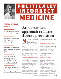 Politically Incorrect Medicine September 2013