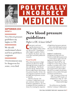 Politically Incorrect Medicine September 2014