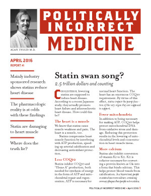 Politically Incorrect Medicine April 2016
